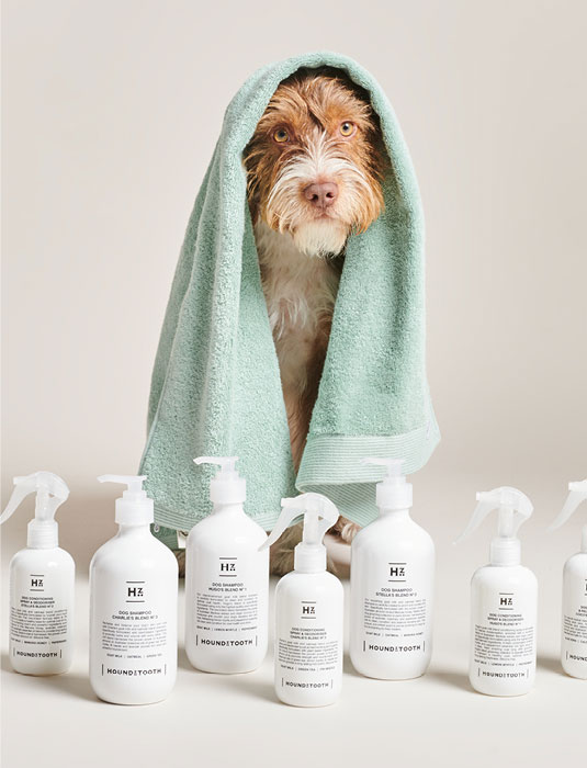 Afbeelding van Bo At Bathing With Natural Care Line Of Houndztooth