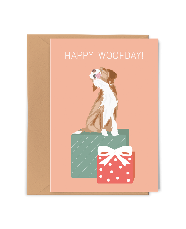 Wenskaart Happy Woofday